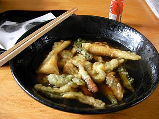 お休み処大平「山菜天麩羅蕎麦、蕎麦抜き」