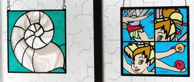 ティンカーベルのステンドグラス