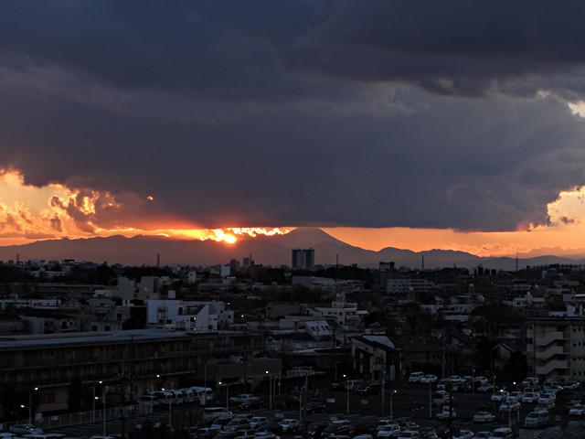 2012年12月31日の夕日