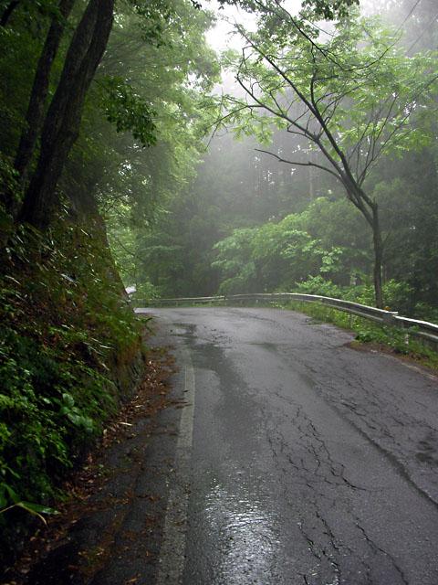雨の大平街道