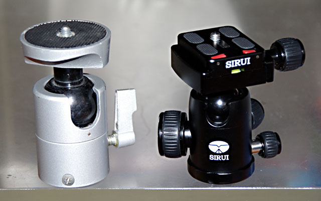 SLIKバル自由雲台とSIRUI G-10
