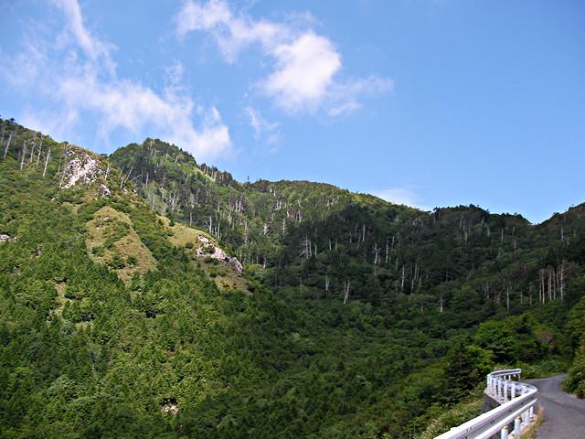 富士見台高原を見つつ神坂峠へのアプローチ