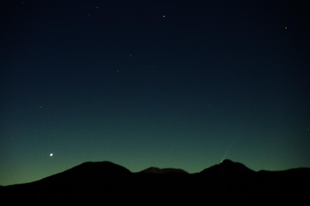 水星と昇るアイソン彗星