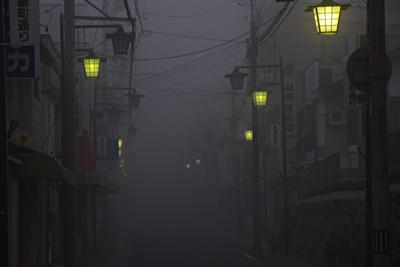 飯田市街の霧 午前6時25分