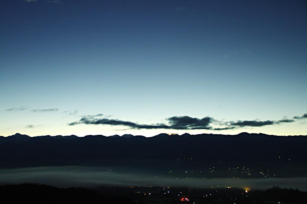 飯田盆地の霧5時45分