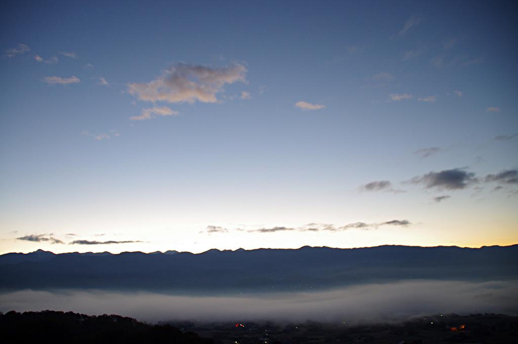 飯田盆地の霧6時3分