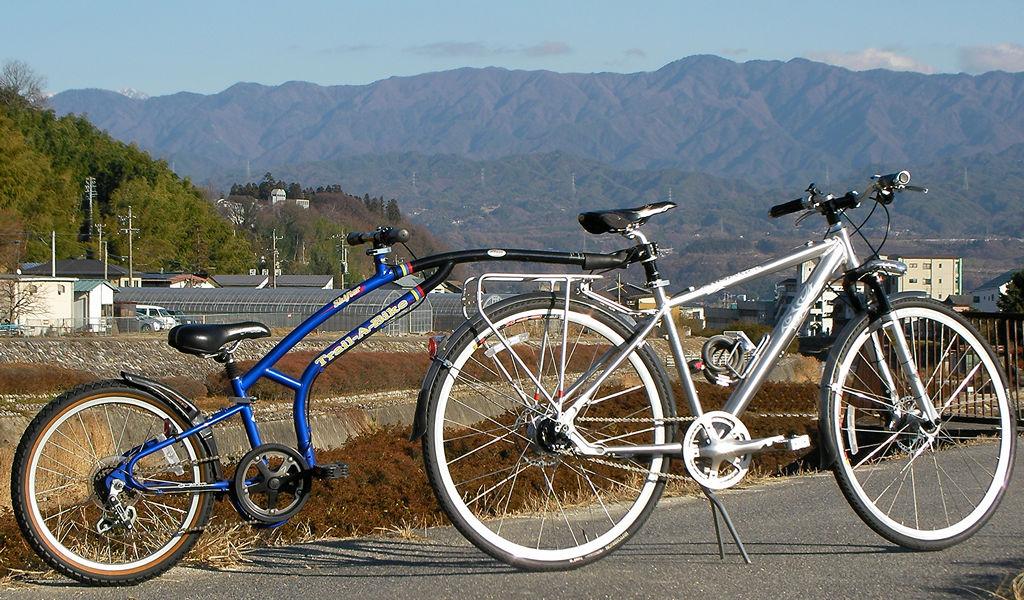 MONGOOSE SABROSA with ADAMS Trail-A-Bike