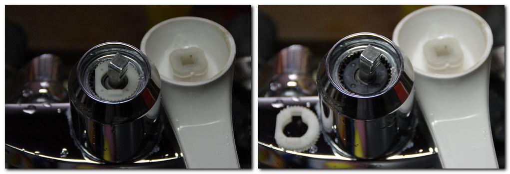 TOTO シングルレバー混合水栓の内部カートリッジの交換