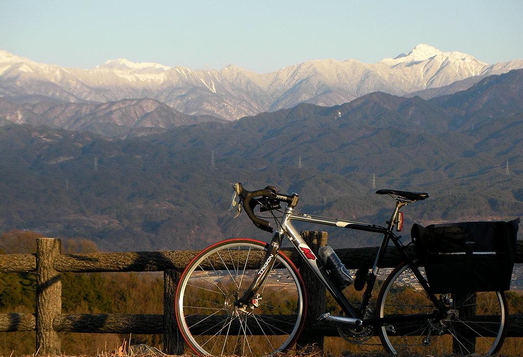平成二十六年正月二日、ハーモニックロードより塩見岳方面を望む