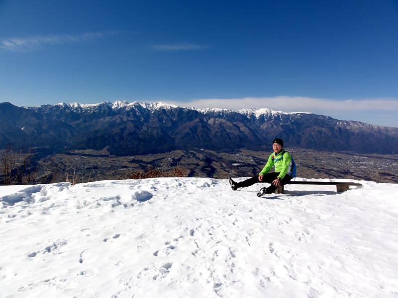 2014年1月24日長野県上伊那郡中川村陣馬形山山頂にて