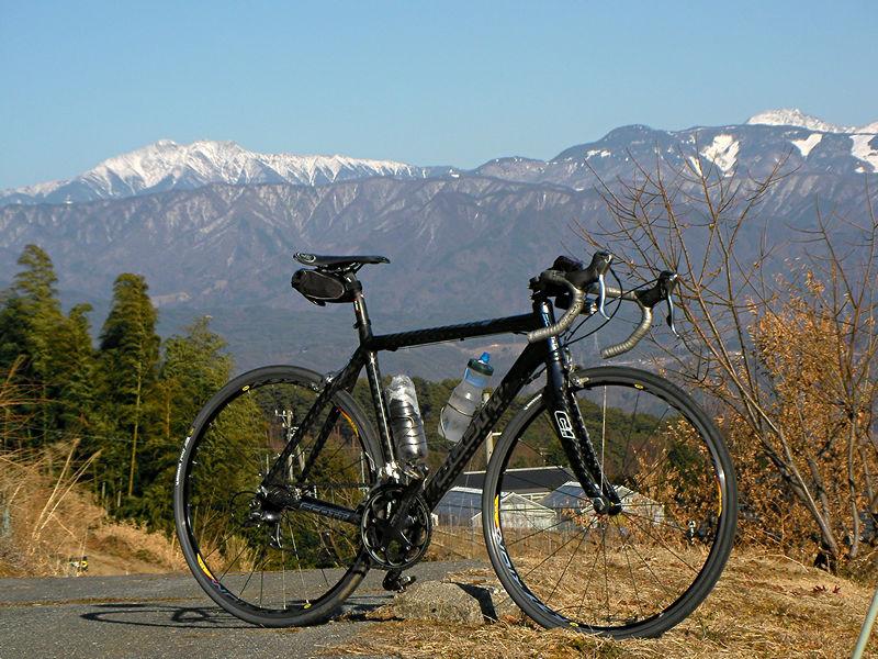 千丈ヶ岳とロードバイク