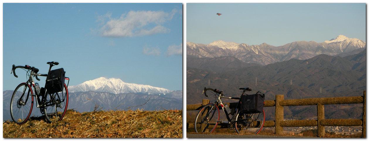 2014年1月31日南アルプスとシクロクロスバイク