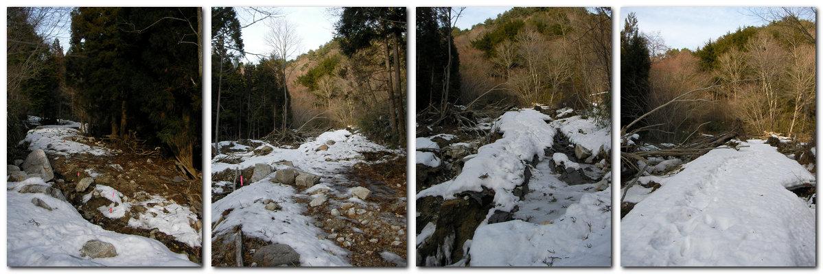 極楽峠林道崩壊箇所