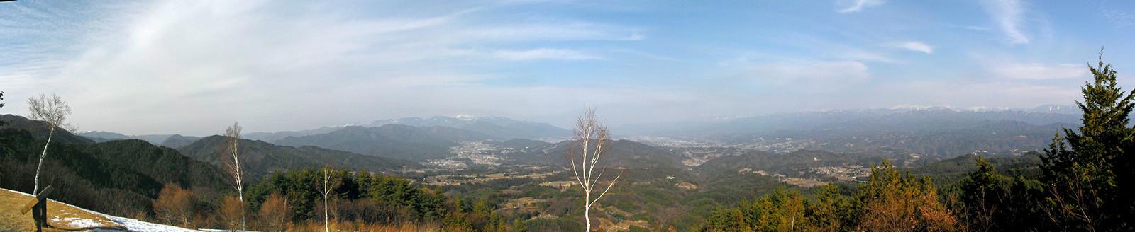 2014年2月1日極楽峠から飯田盆地を眺む