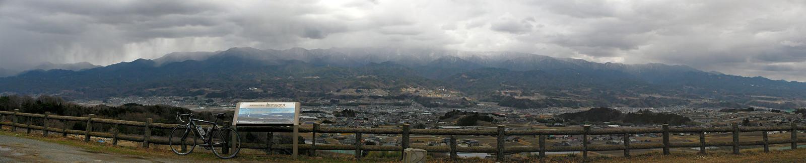 2014年3月14日「月夜平から飯田盆地を望む」
