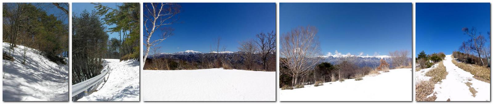 2014年3月15日「陣馬形山キャンプ場付近」