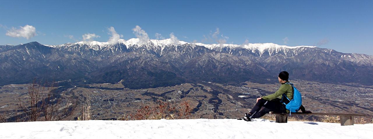 2014年3月15日中川村陣馬形山頂