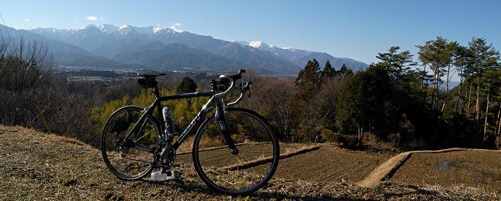 2014年3月22日「中川村美里地区から中央アルプスを望む」