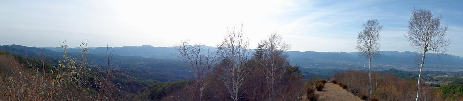 平栗峠からの眺望