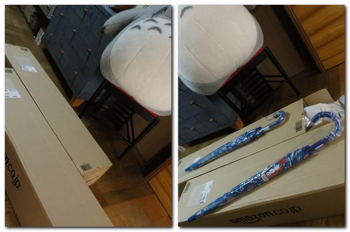 子供用の傘を2本通販したら、でっかい箱2つで届いた