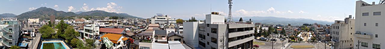 2014年4月27日「飯田市街からのパノラマ」