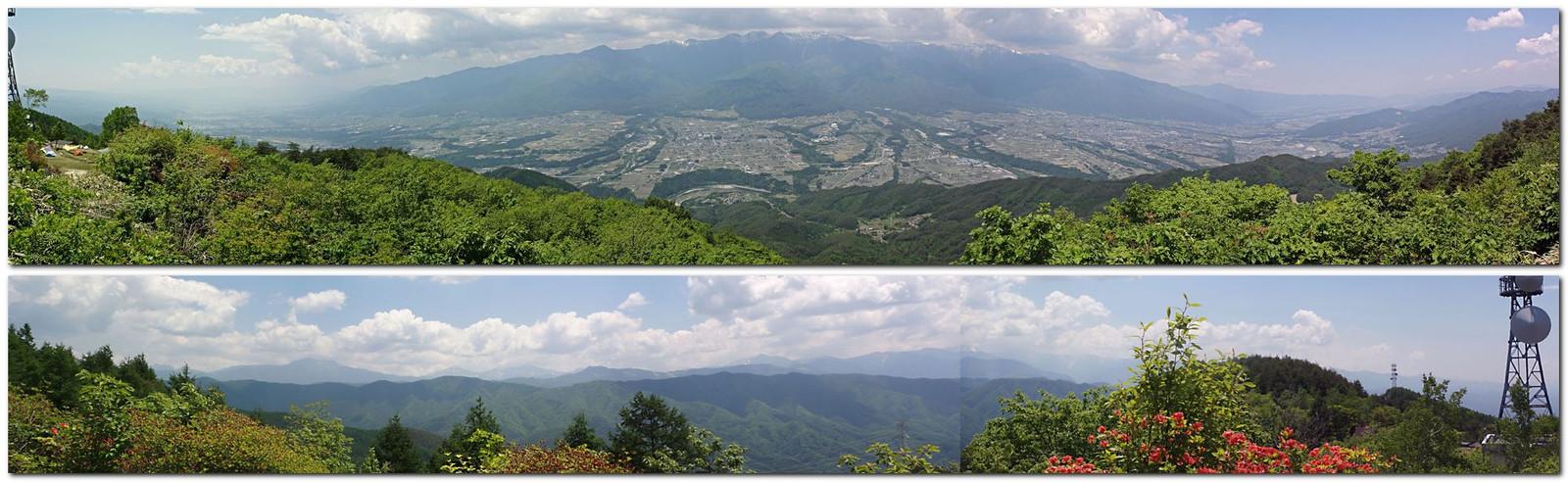 中川村陣馬形山山頂からの展望(2015年5年26日)