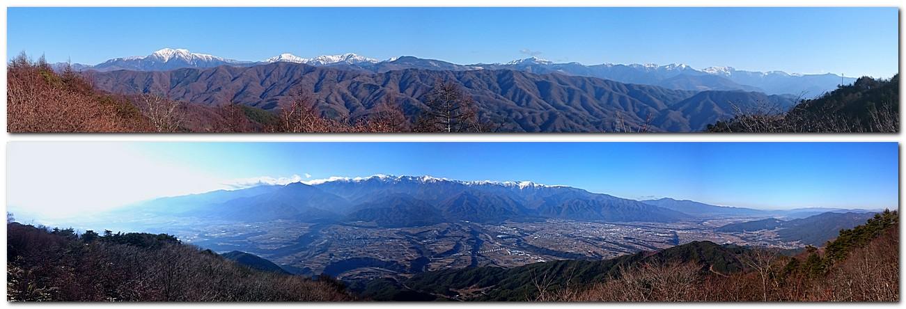 2015年12月20日 陣馬形山からの風景
