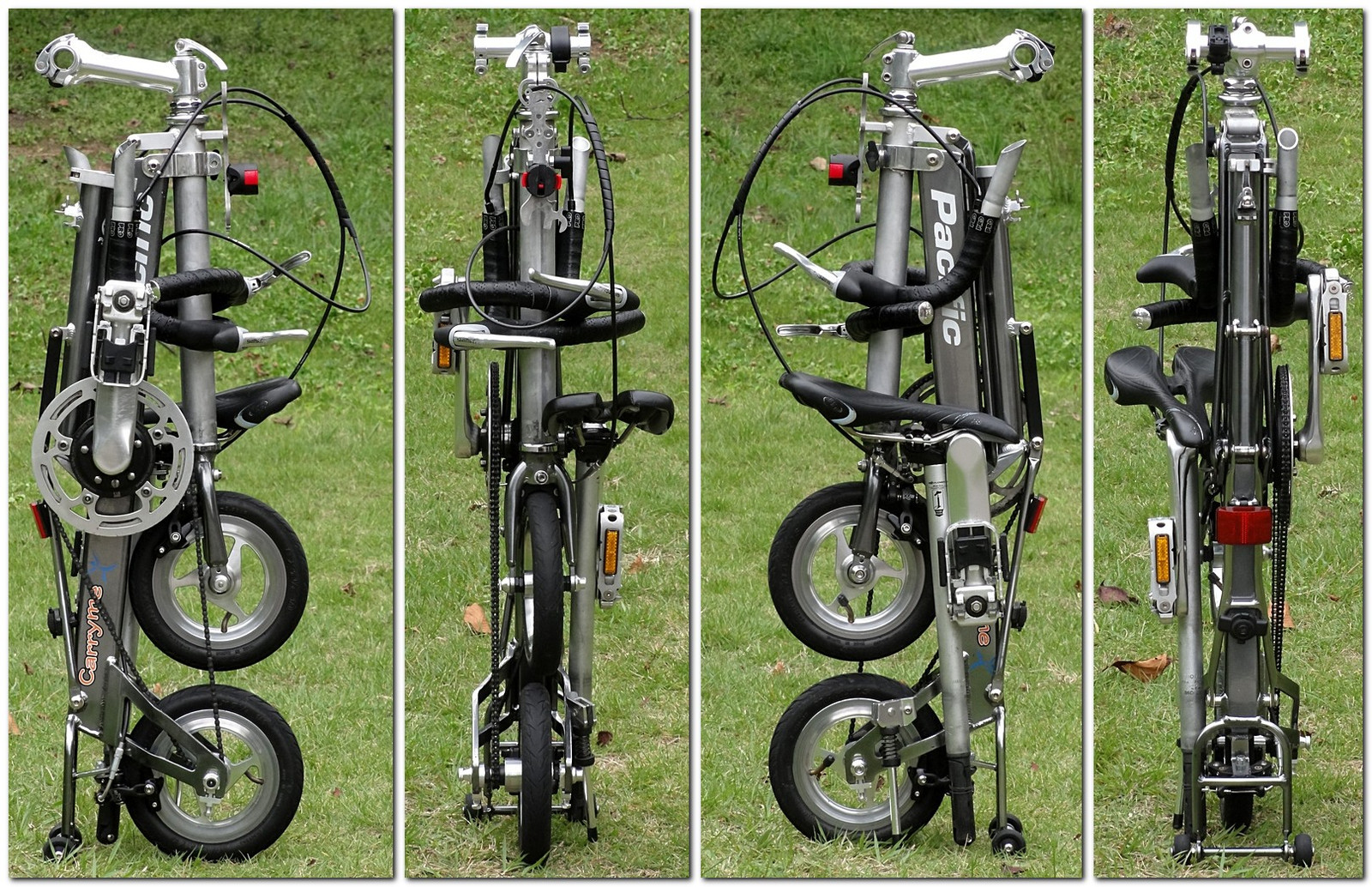 "Folding form of ""Pacific cycles CarryMe DS with drop handlebar"""