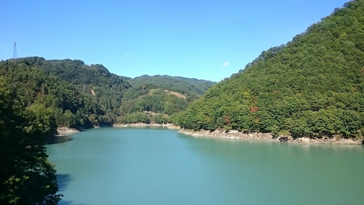 小渋ダム湖四徳方面