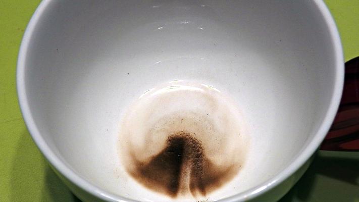 沈殿したコーヒーの微粉