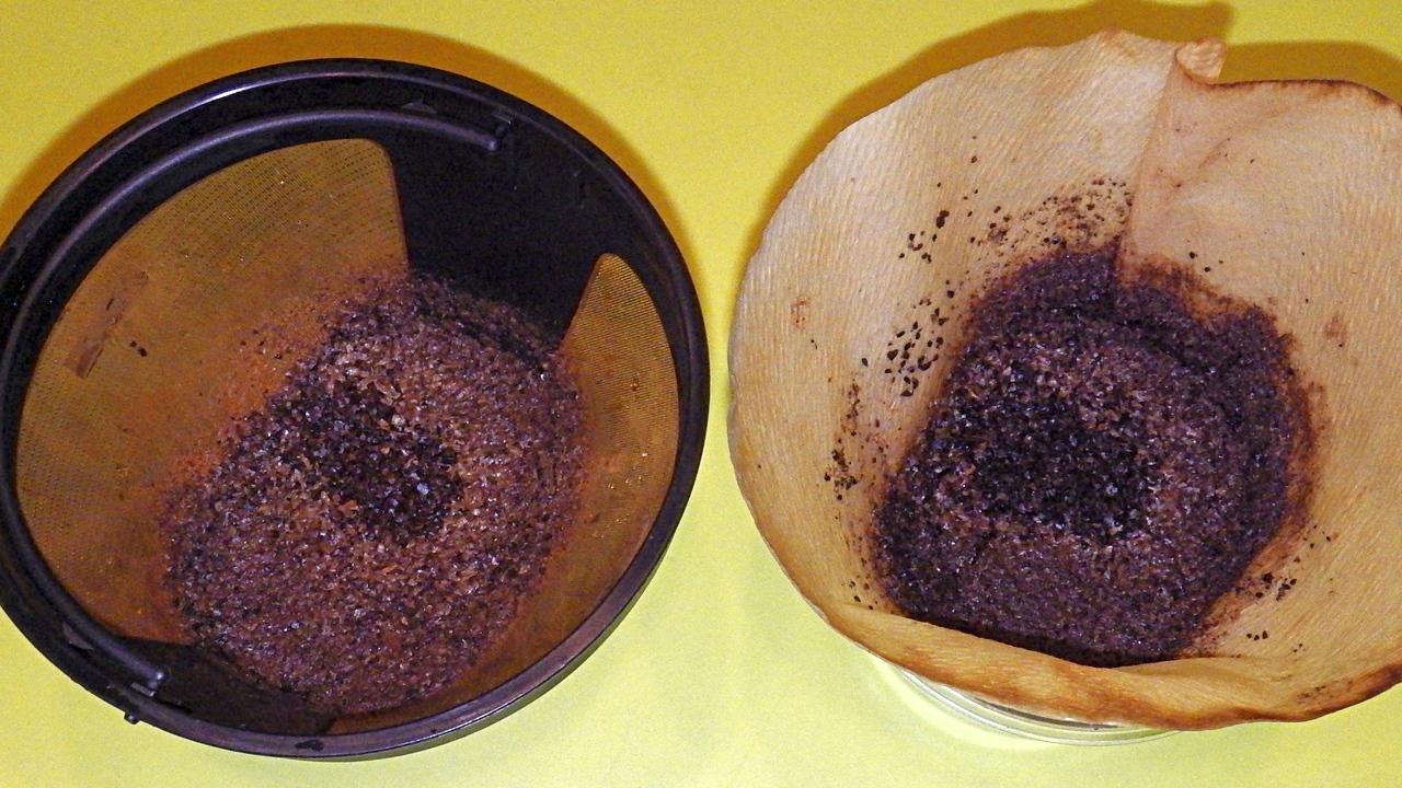 左:ゴールドフィルター使用、右:ペーパーフィルター使用